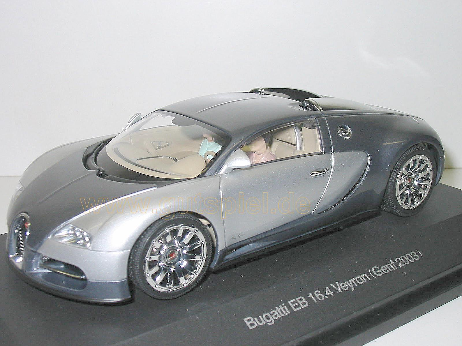 autoart 1 24 bugatti eb 16 4 veyron 2003 genf silber grau. Black Bedroom Furniture Sets. Home Design Ideas
