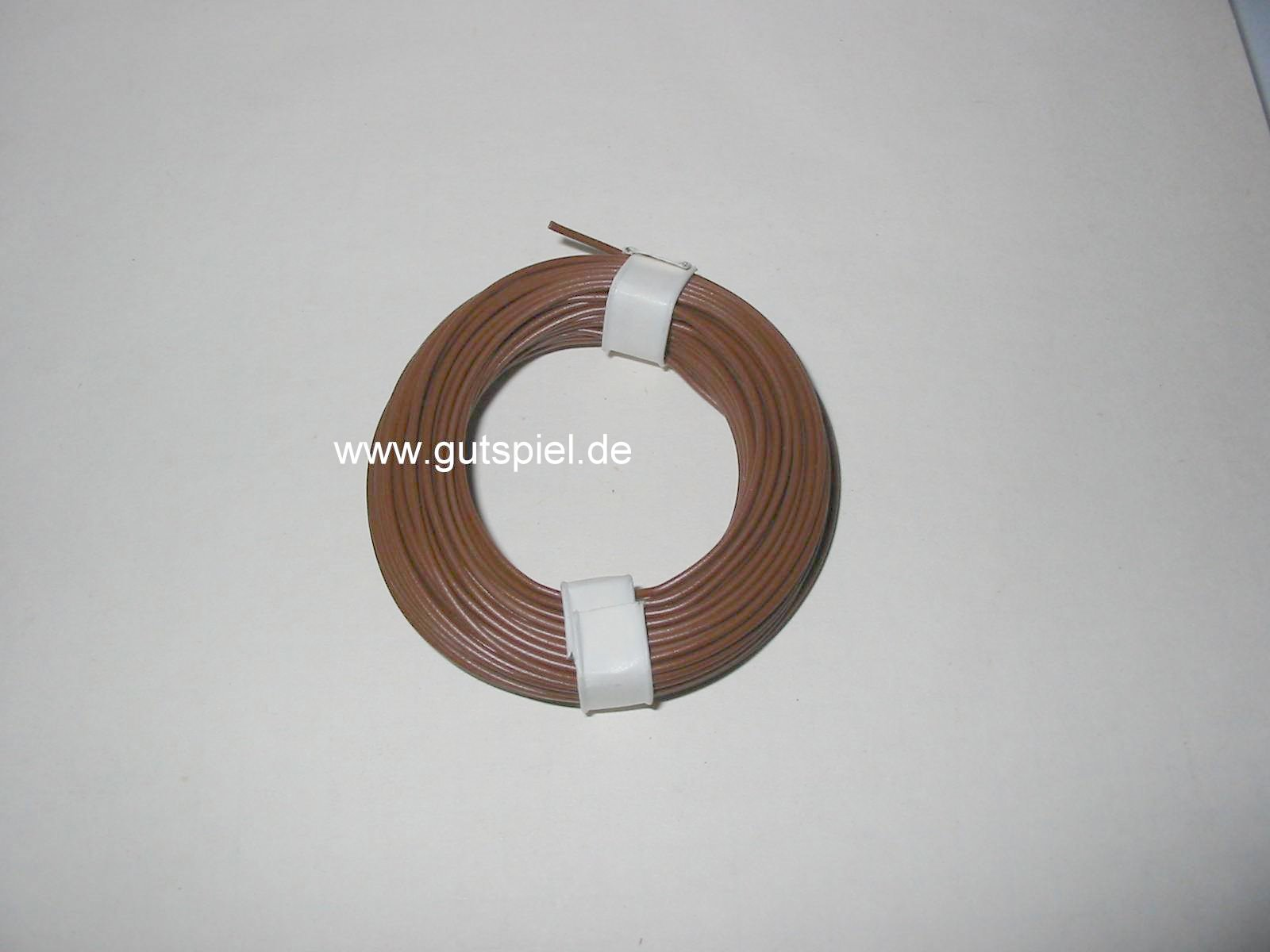 Kabel Litze mit einem Querschnit von 0,14qmm und 10 Meter länge braun